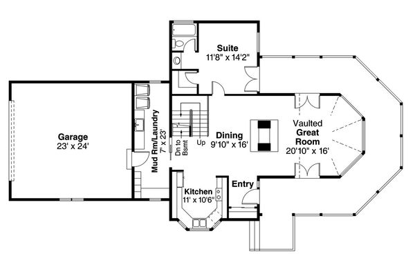 Beach Floor Plan - Main Floor Plan Plan #124-1094