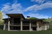 Modern Style House Plan - 4 Beds 4.5 Baths 5383 Sq/Ft Plan #920-89 Exterior - Rear Elevation