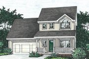 Traditional Style House Plan - 3 Beds 2.5 Baths 1453 Sq/Ft Plan #20-1249 Exterior - Front Elevation