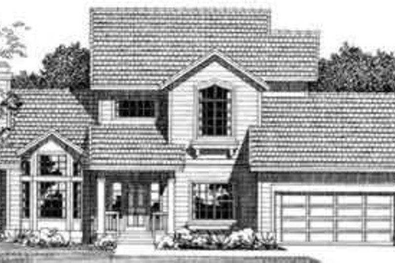 House Blueprint - Traditional Exterior - Front Elevation Plan #72-457