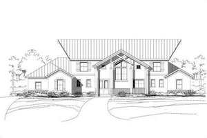 Modern Exterior - Front Elevation Plan #411-131