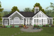 Craftsman Style House Plan - 3 Beds 2.5 Baths 1992 Sq/Ft Plan #56-567 Exterior - Rear Elevation