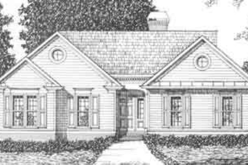 Traditional Exterior - Front Elevation Plan #129-115 - Houseplans.com