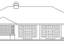 Home Plan - Mediterranean Exterior - Rear Elevation Plan #124-412