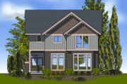 Craftsman Style House Plan - 3 Beds 2.5 Baths 2502 Sq/Ft Plan #48-263 Exterior - Rear Elevation