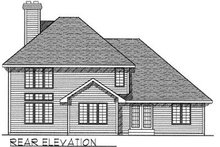 House Design - Traditional Exterior - Rear Elevation Plan #70-397