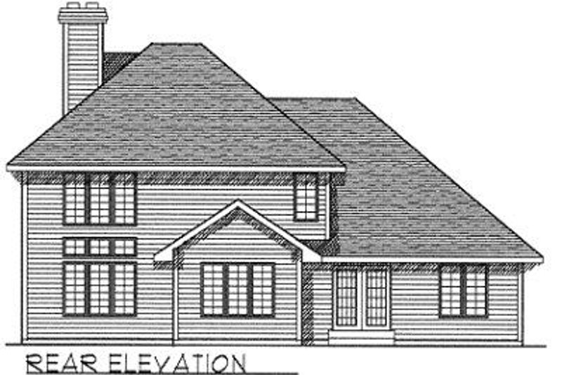 Traditional Exterior - Rear Elevation Plan #70-397 - Houseplans.com