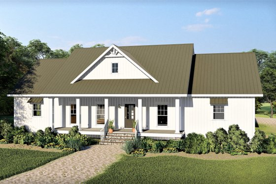 Farmhouse Exterior - Front Elevation Plan #44-242