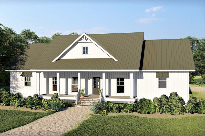 Farmhouse Exterior - Front Elevation Plan #44-242