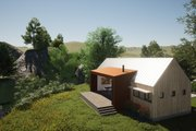 Modern Style House Plan - 2 Beds 2 Baths 991 Sq/Ft Plan #933-5 Exterior - Rear Elevation
