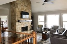 Ranch Interior - Family Room Plan #437-77