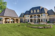 European Style House Plan - 6 Beds 6.5 Baths 7236 Sq/Ft Plan #119-169 Exterior - Rear Elevation