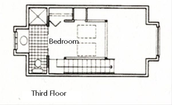 Modern Floor Plan - Upper Floor Plan Plan #511-3