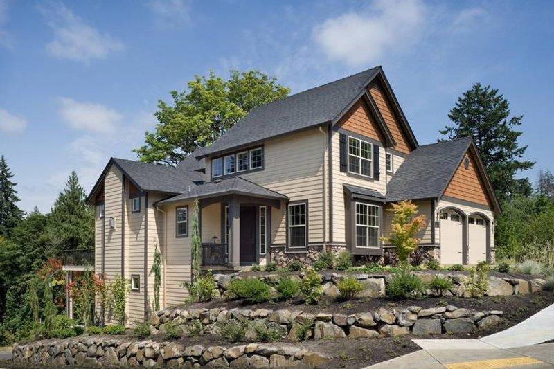 Craftsman Exterior - Front Elevation Plan #48-118 - Houseplans.com
