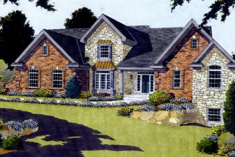 European Exterior - Front Elevation Plan #46-239 - Houseplans.com