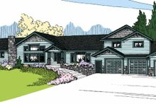 Contemporary Exterior - Front Elevation Plan #60-1029