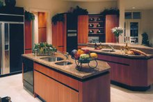 Mediterranean Interior - Kitchen Plan #930-109