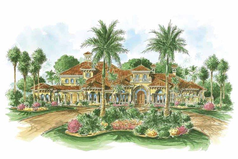 Dream House Plan - Mediterranean Exterior - Front Elevation Plan #1017-73