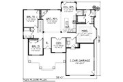 Craftsman Style House Plan - 3 Beds 2 Baths 1840 Sq/Ft Plan #70-1267 Floor Plan - Main Floor