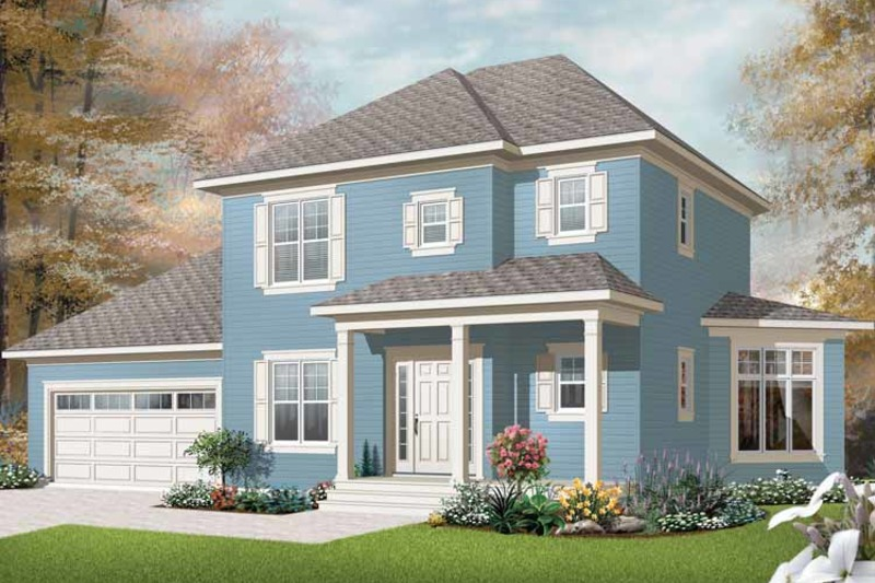 Country Exterior - Front Elevation Plan #23-2405