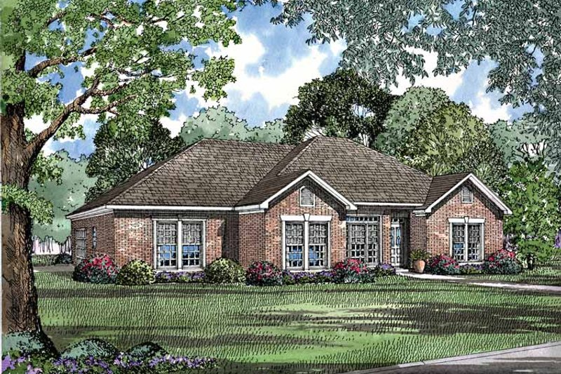 Ranch Exterior - Front Elevation Plan #17-3175