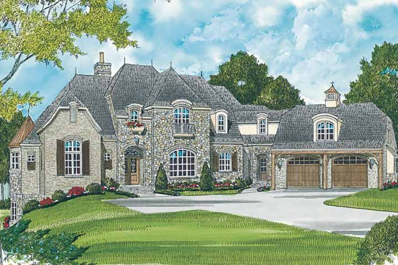 Architectural House Design - Country Exterior - Front Elevation Plan #453-464