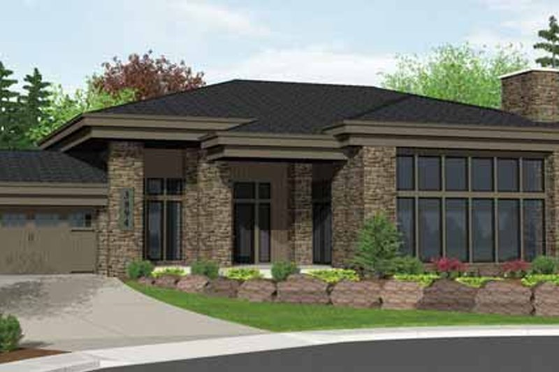Home Plan - Contemporary Exterior - Front Elevation Plan #943-19