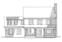 Home Plan - Colonial Exterior - Rear Elevation Plan #137-171