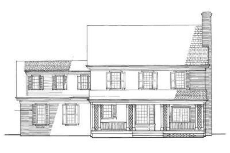 Colonial Exterior - Rear Elevation Plan #137-171 - Houseplans.com