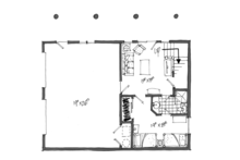 Log Floor Plan - Lower Floor Plan Plan #942-23