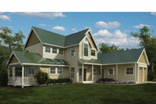 Country Exterior - Front Elevation Plan #118-154