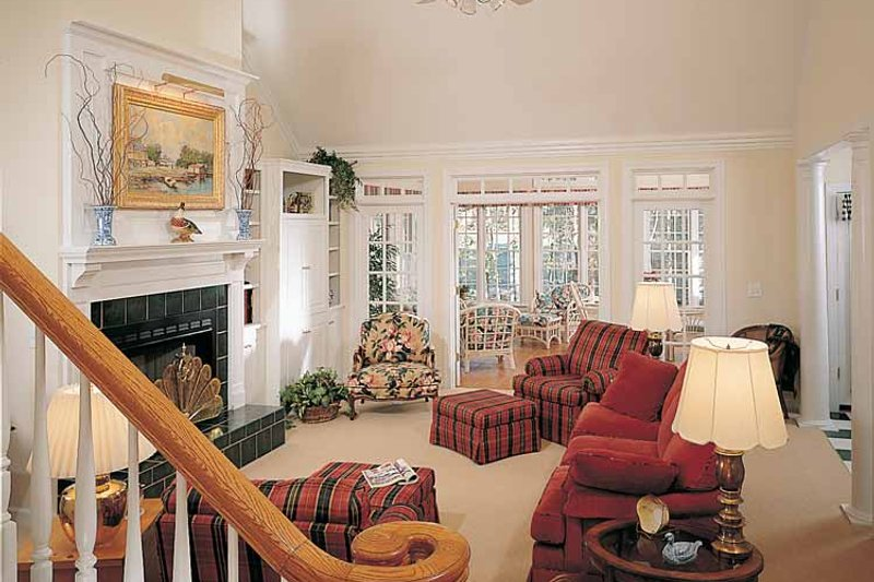 Country Interior - Family Room Plan #929-148 - Houseplans.com