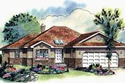 Ranch Style House Plan - 2 Beds 2 Baths 1437 Sq/Ft Plan #18-184 Exterior - Front Elevation