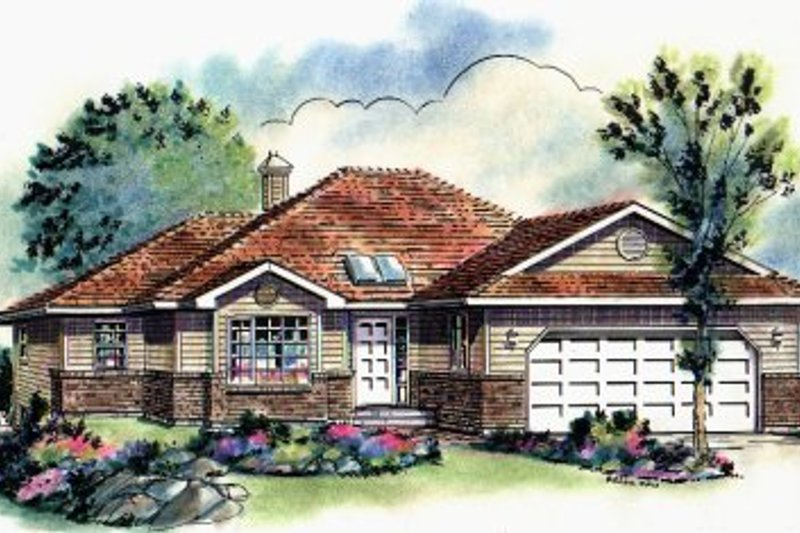 House Design - Ranch Exterior - Front Elevation Plan #18-184