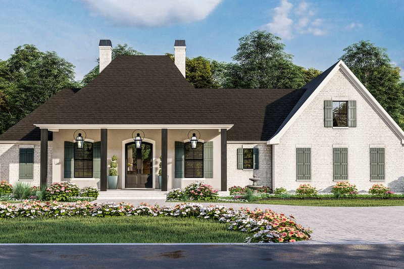 Traditional Style House Plan - 4 Beds 3 Baths 3507 Sq/Ft Plan #406-9664 Exterior - Front Elevation