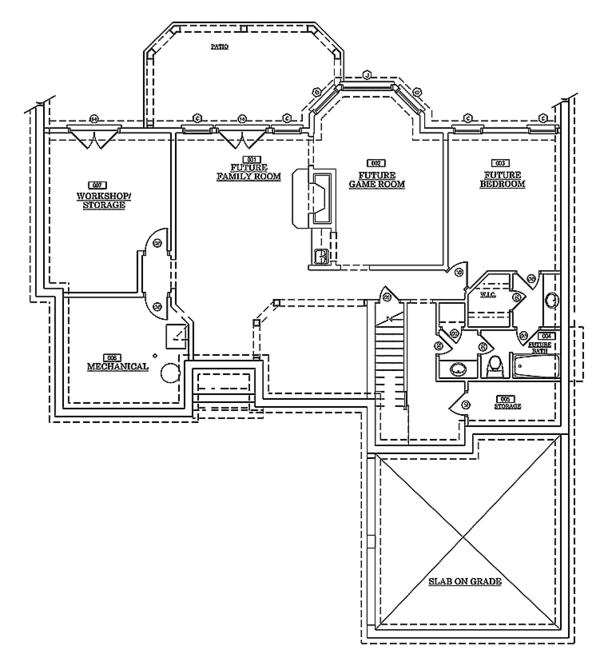 Traditional Floor Plan - Lower Floor Plan Plan #429-78