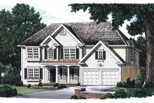 Architectural House Design - Country Exterior - Front Elevation Plan #927-257