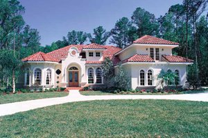 Architectural House Design - Mediterranean Exterior - Front Elevation Plan #417-662