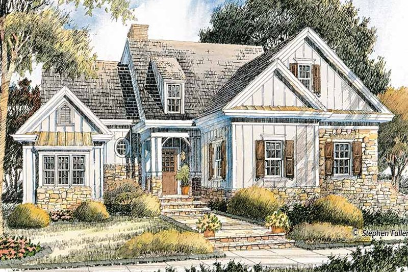Bungalow Exterior - Front Elevation Plan #429-367 - Houseplans.com
