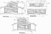 Log Style House Plan - 2 Beds 1 Baths 977 Sq/Ft Plan #17-508 Exterior - Rear Elevation
