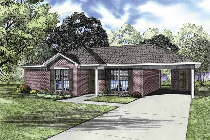 Ranch Exterior - Front Elevation Plan #17-2844 - Houseplans.com