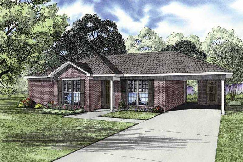 House Plan Design - Ranch Exterior - Front Elevation Plan #17-2844