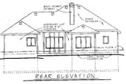 Traditional Style House Plan - 3 Beds 2.5 Baths 1920 Sq/Ft Plan #20-621 Exterior - Rear Elevation