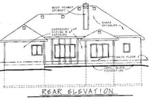 Traditional Exterior - Rear Elevation Plan #20-621