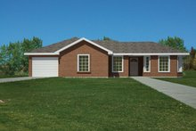 House Plan Design - Ranch Exterior - Front Elevation Plan #1061-32