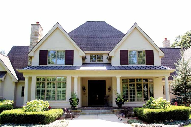 European Exterior - Front Elevation Plan #928-65 - Houseplans.com