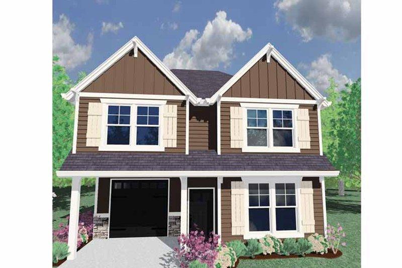 Prairie Exterior - Front Elevation Plan #509-126 - Houseplans.com