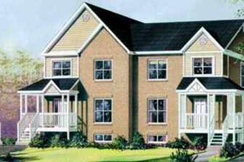 Victorian Style House Plan - 3 Beds 1.5 Baths 4755 Sq/Ft Plan #25-350 Exterior - Front Elevation