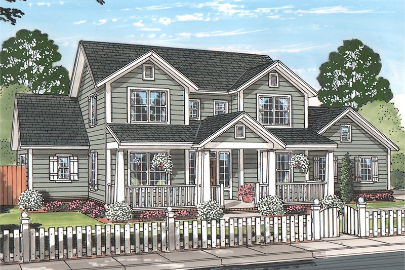 Traditional Exterior - Front Elevation Plan #513-2158 - Houseplans.com