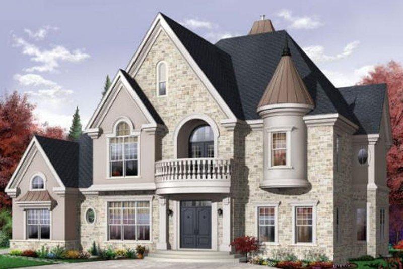 Home Plan - European Exterior - Front Elevation Plan #23-412